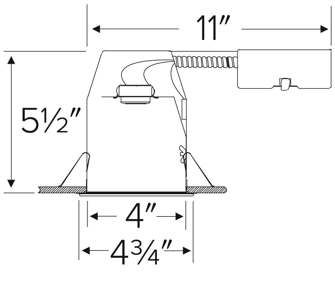 4 Remodel Housing With Adjustable Lampholder
