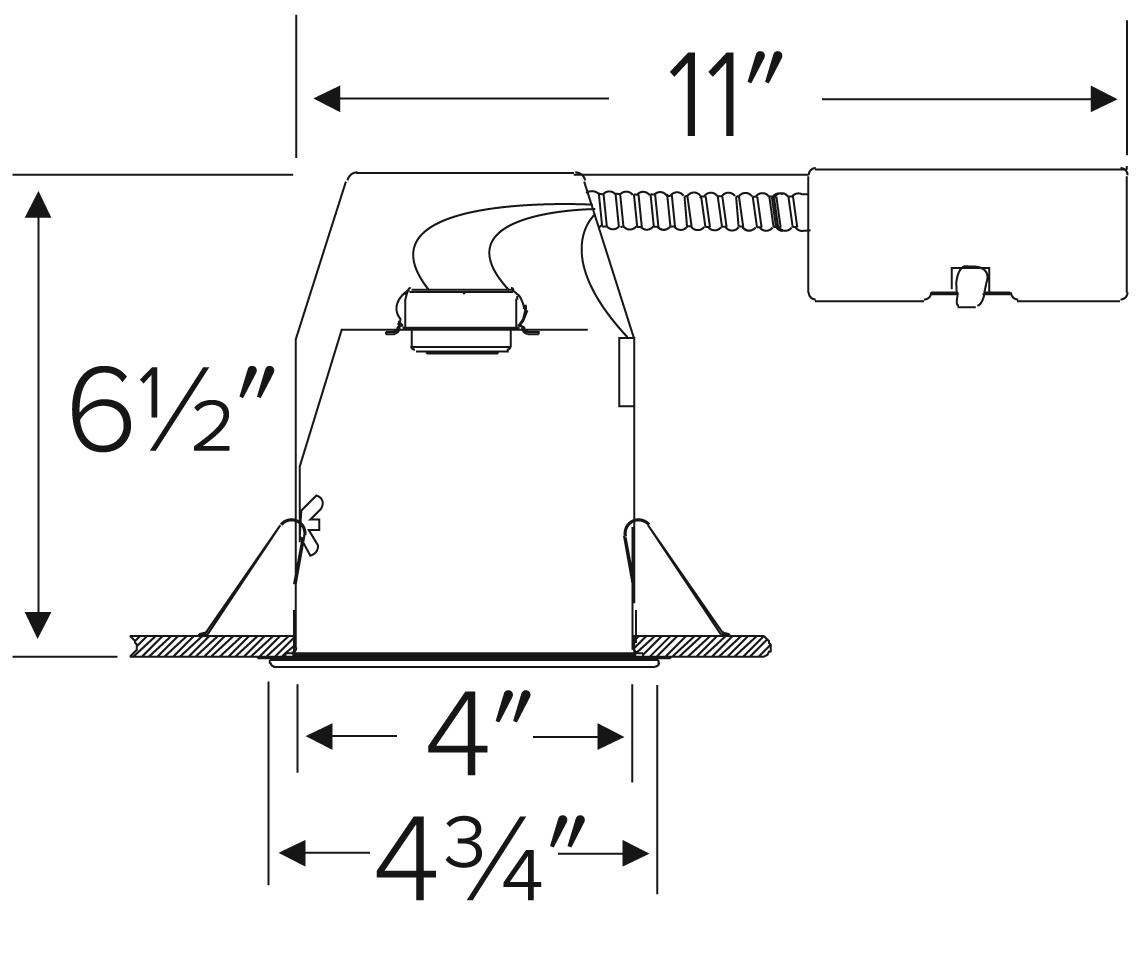 4 Airtight Remodel Ic Housing With Gu24 Base Socket