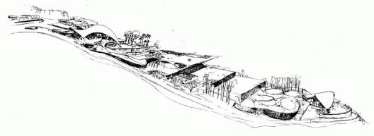 Club Tachira. Dibujo arquitectonico original de Fruto Vivas