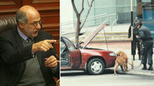 Congreso de la República, Daniel Abugattas, Amenaza de bomba