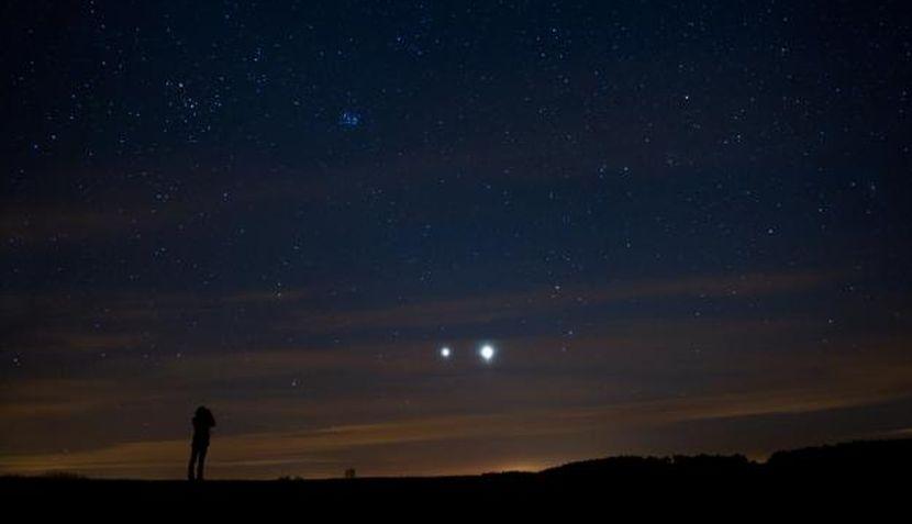 Luna, Júpiter, Astronomía, Venus,  Conjunción de Venus y Júpiter