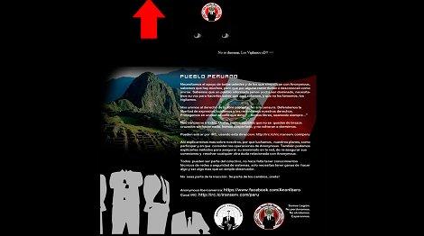 Anonymous hackea web de la Municipalidad de Pueblo Libre