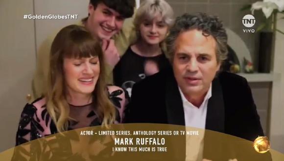 Golden Globes 2021: Mark Ruffalo recibe premio desde casa y sus hijos se  roban la atención | VIDEO | USA | EEUU | Estados Unidos | | TVMAS | EL  COMERCIO PERÚ