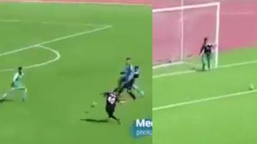 VIRAL: el receptor de la pelota entra al campo de juego para evitar el gol del oponente |  VIDEO