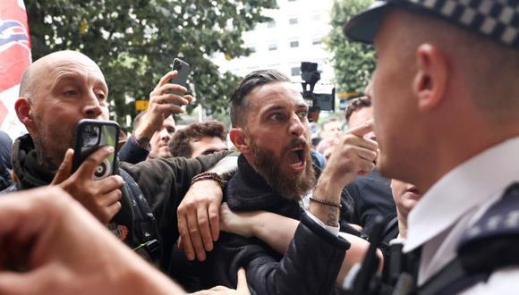 Coronavirus: Policías heridos en Londres en choques con manifestantes  antivacunas   COVID-19   Londres   MUNDO   EL COMERCIO PERÚ