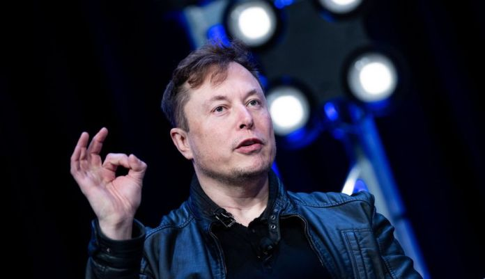 Elon Musk, founder of Tesla, was delivered during the presentation of the financial results of the car manufacturer in the first quarter of 2020. (Brendan Smialowski / AFP).