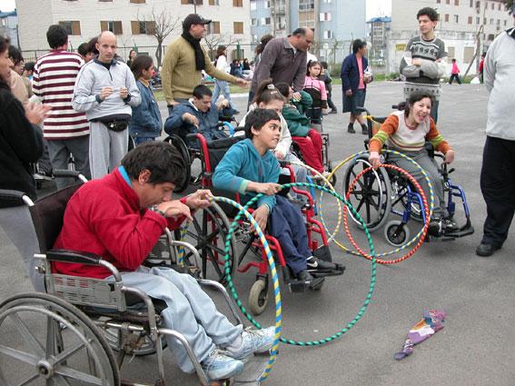 ni+¦os discapacitados