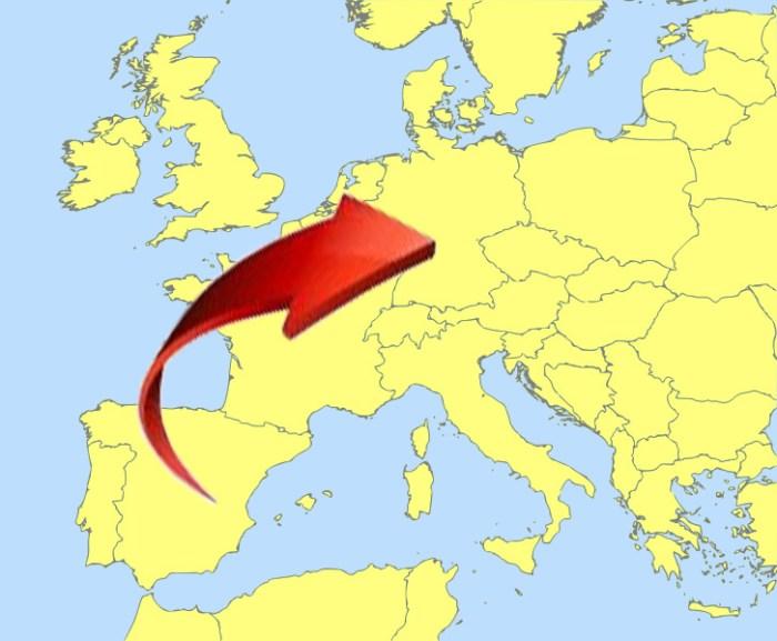 Mapa españa alemania