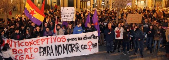 11-01-14 Segovia. Manifestación contra la reforma de la ley del aborto.