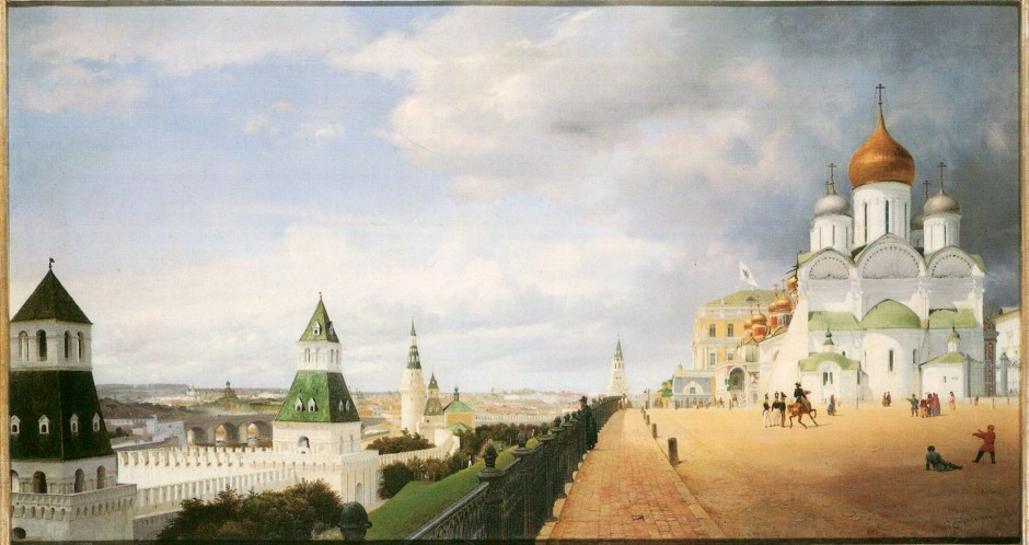 El Kremlin blanco de Moscú, obra de Eduard Gaertner