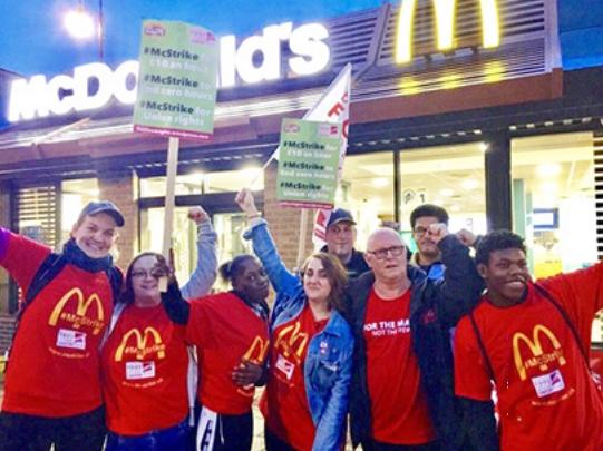 McDonald's strike UK 2