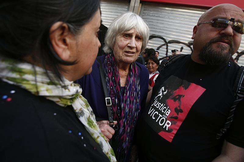 En la imagen un registro de la Viuda de Víctor Jara, Joan Jara