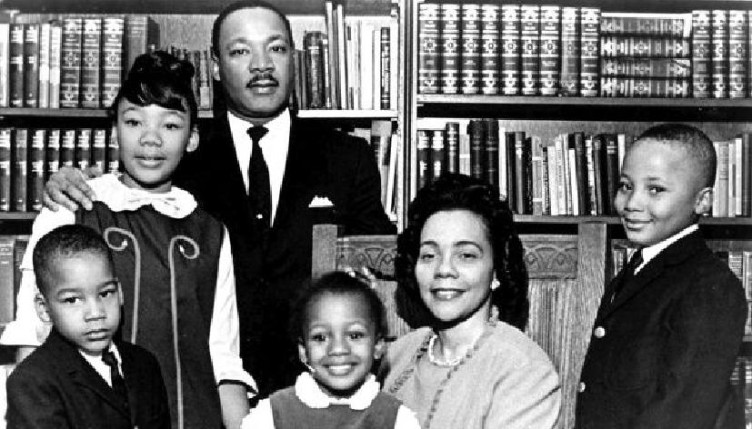 Luther King junto a su familia
