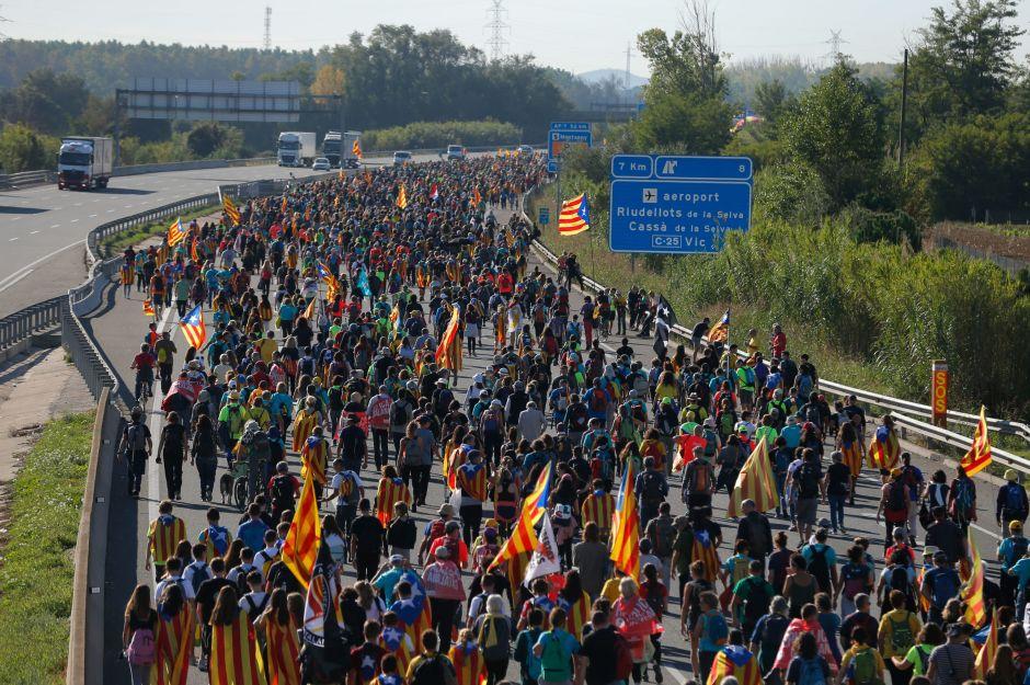 La marcha de Girona