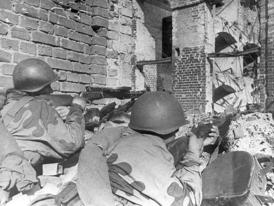 Soldados del Ejército Rojo durante la batalla de Varsovia