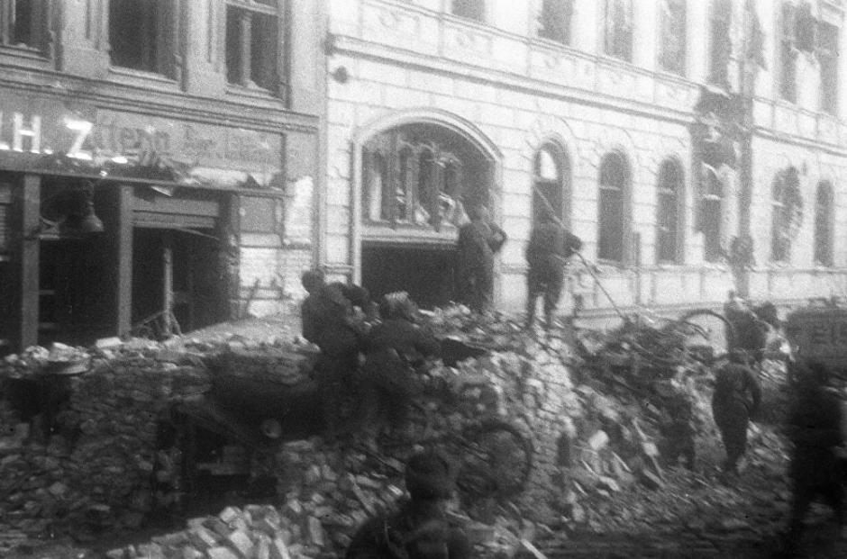 Combate urbano durante la batalla de Königsberg