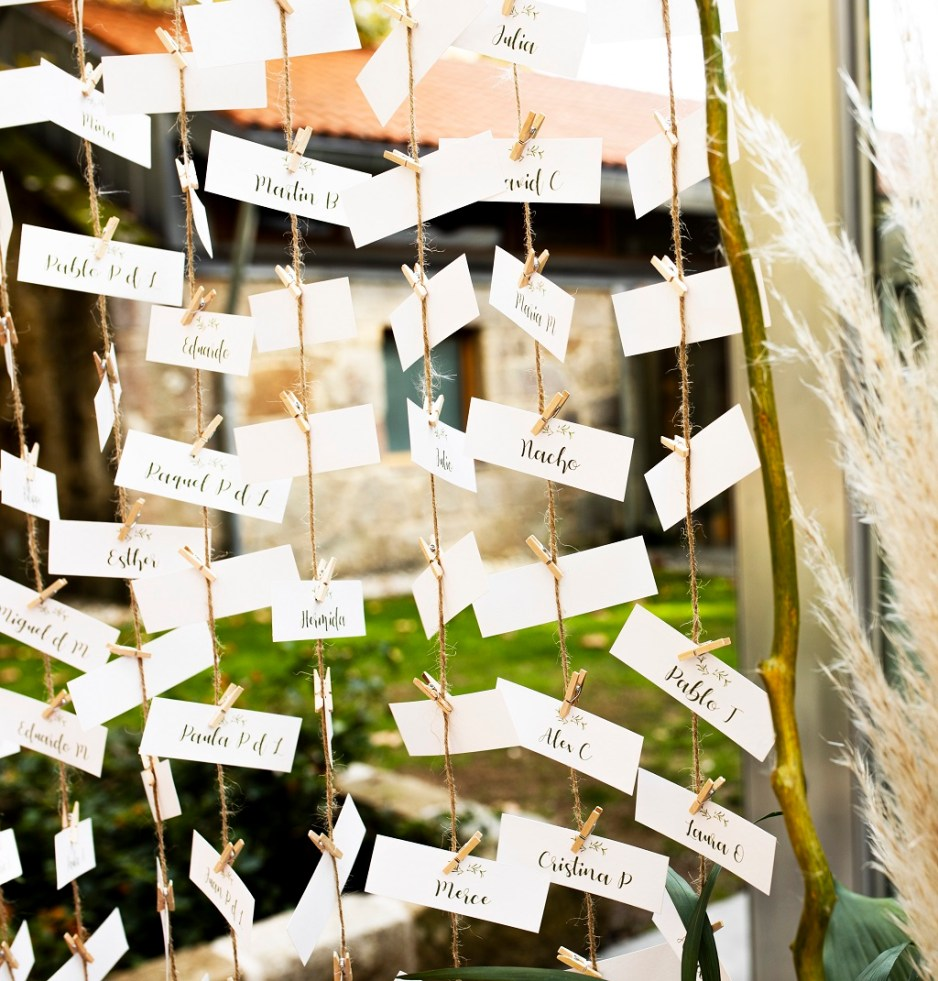 Detalle Seating Plan - Una boda