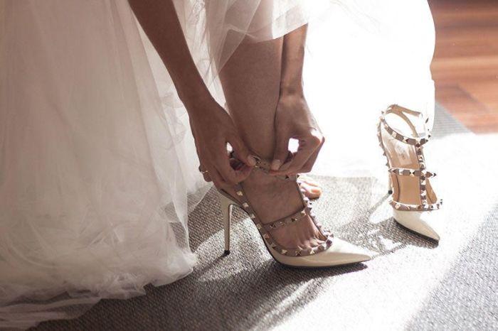 zapato novia - Valentino - Modelo Rockstud