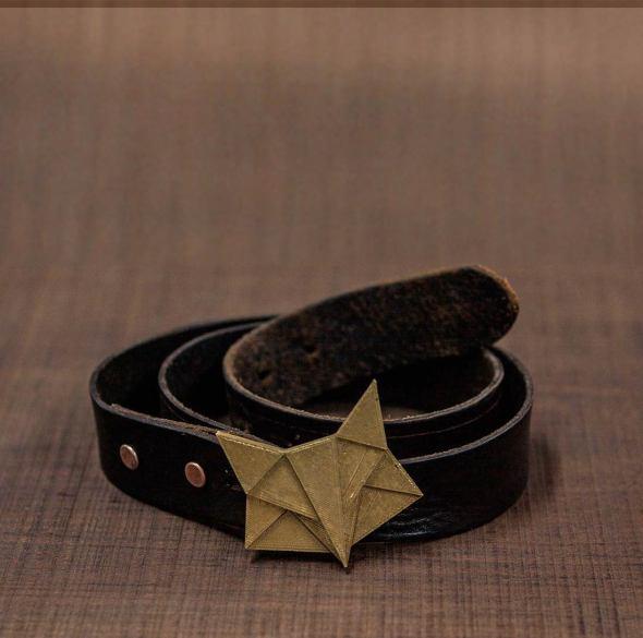 Hebillas cinturon western en forma de zorro impreso en 3D