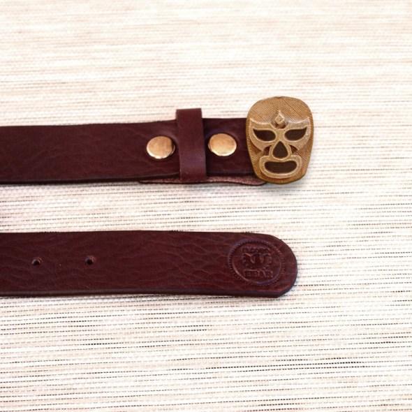 Broches para cinturones con forma de luchador mexicano