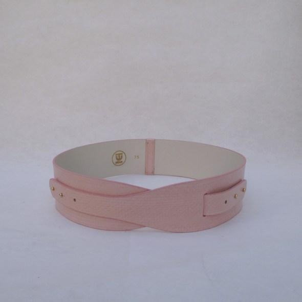 """""""LOTO"""" cinturón serpiente rosa brillo"""