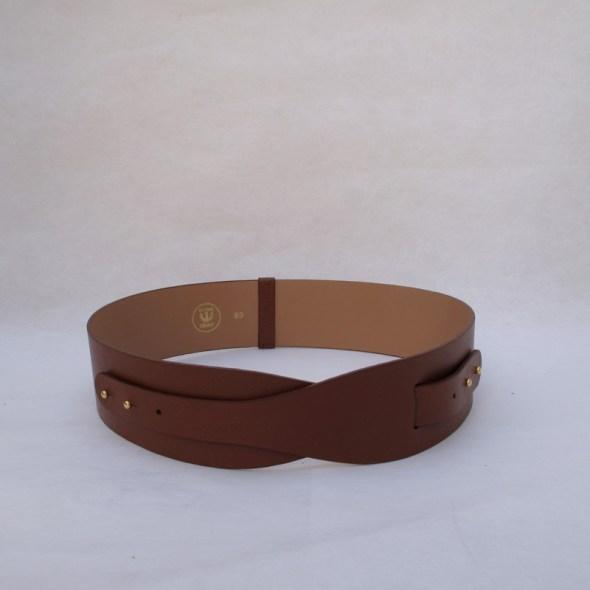 """""""LOTO"""" cinturón piel marrón"""