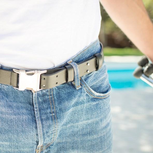 """Rodeo"" cinturon piel negro"