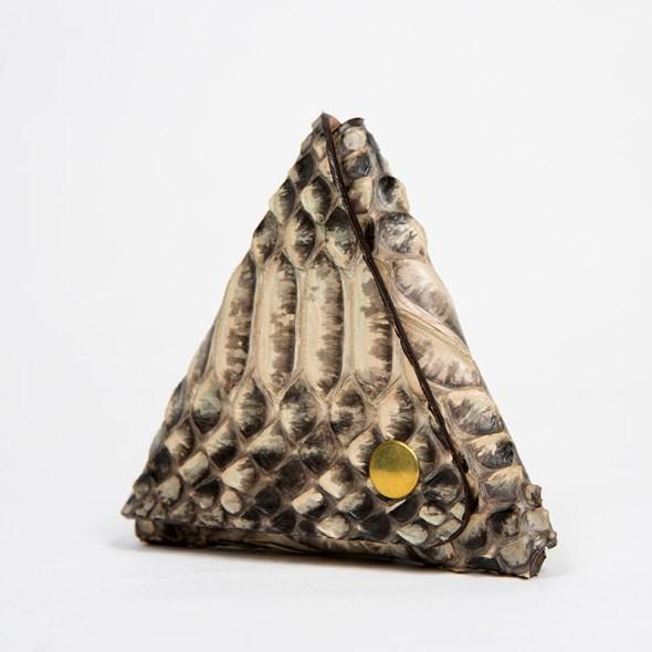 monedero serpiente hecho a mano