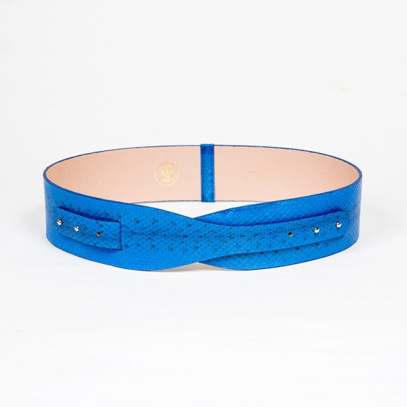 """""""Loto"""" cinturón serpiente azul"""