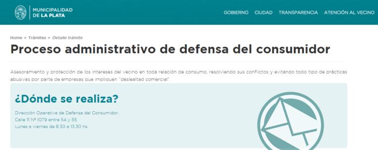 A partir del martes, Defensa del Consumidor de La Plata atenderá en su nueva oficina