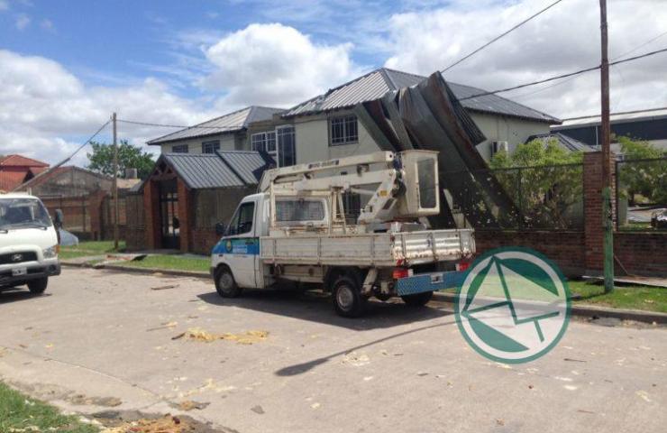 Acciones en Berisso ante el temporal del fin de semana 01