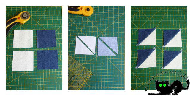 Los cuadrados formados por triángulos de nuestro bloque