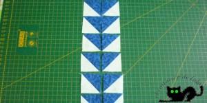 Colocamos nuestros cuadrados formados por triángulos