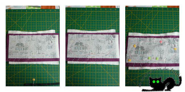 Preparamos las tres capas antes de ir a la máquina de coser