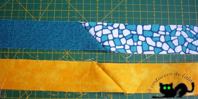 Abrimos las telas y este es el resultado después de coser