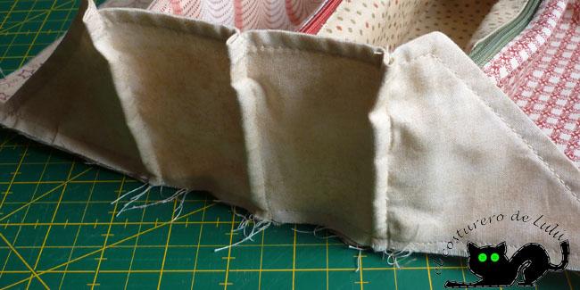 Aquí tienes un detalle más de como queda al coser