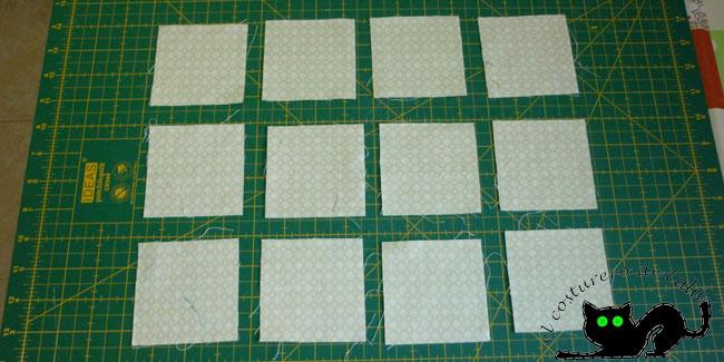 Colocamos nuestros cuadrados o bloques