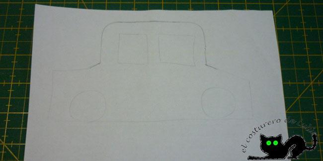 Patrón con forma de coche