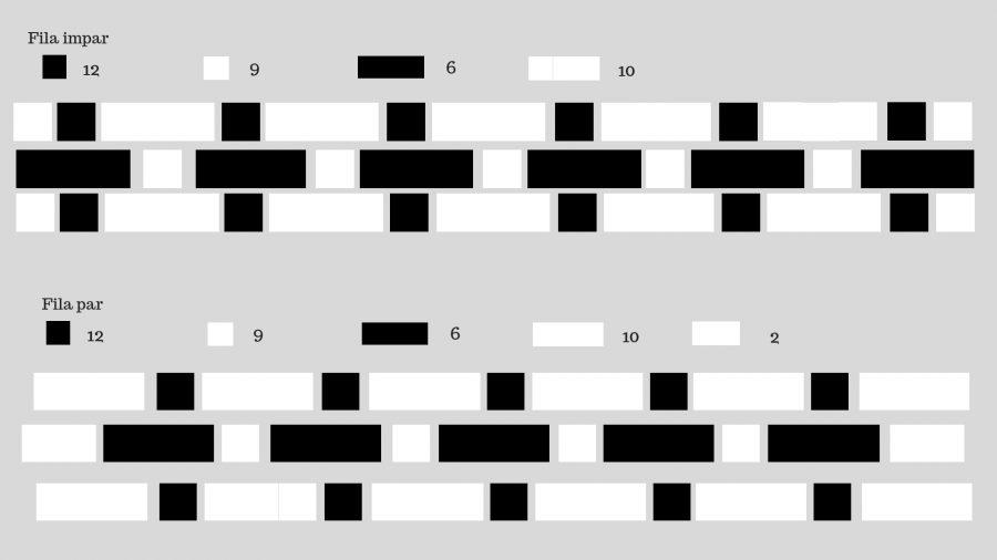 Edredón negro y blanco por piezas