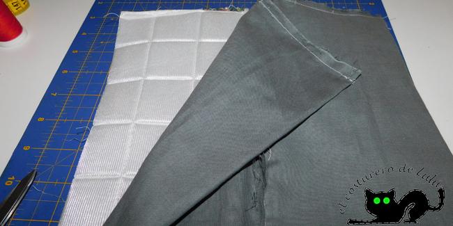 Ya tenemos las telas exteriores y las interiores cosidas.