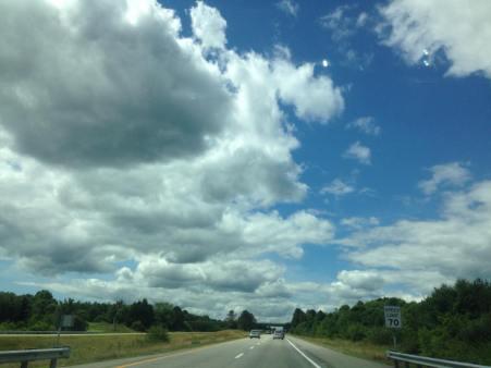 El cielo de Maine desde la 295