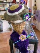 Boina de lana con bufanda a juego