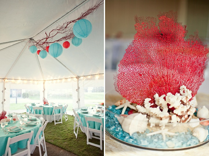 Modern Red Amp Aqua Outer Banks Wedding Every Last Detail