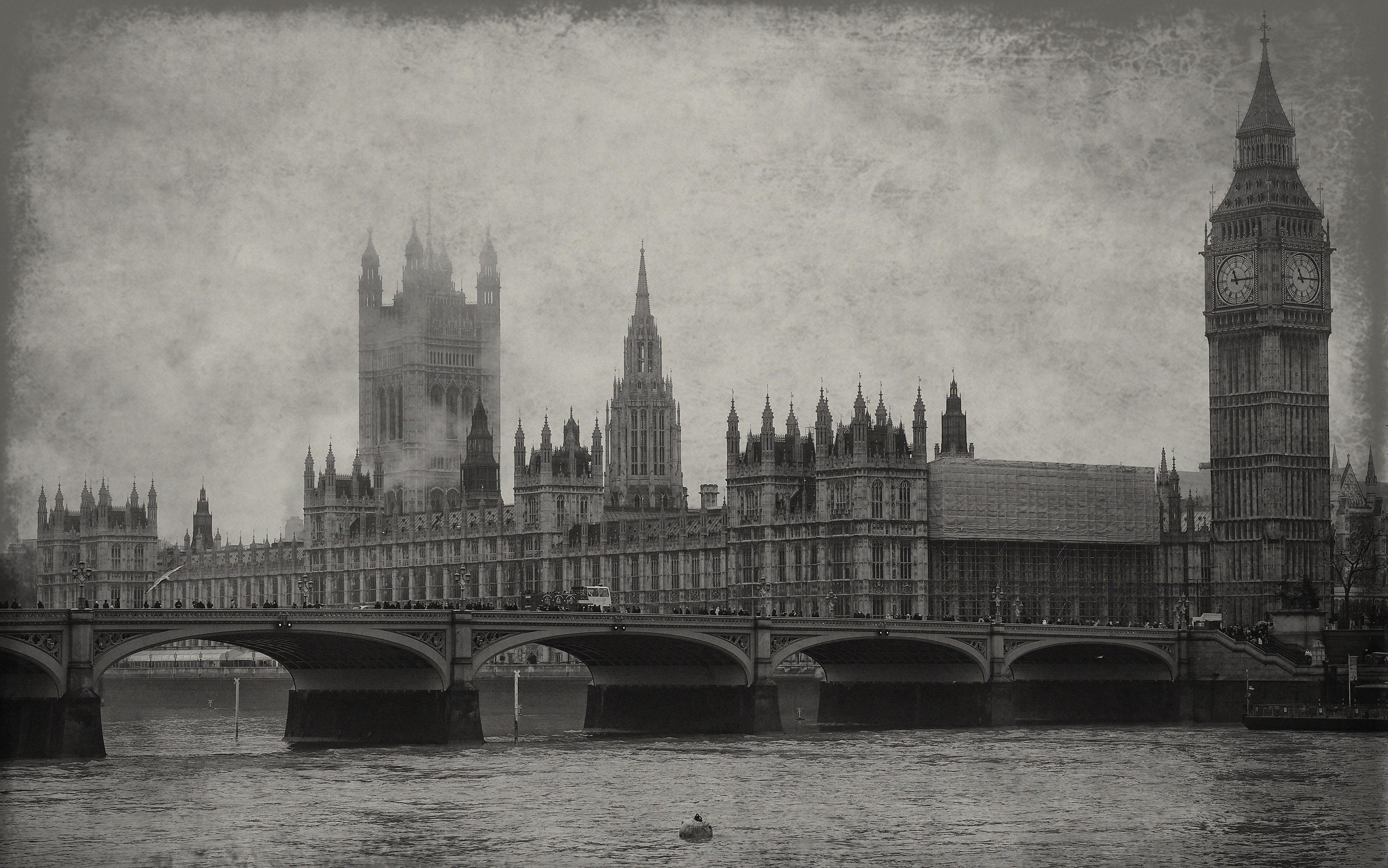 Fondo – niebla en Londres