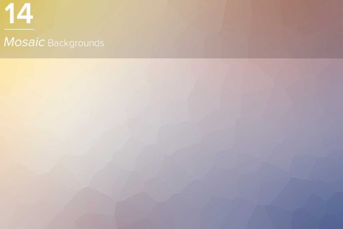 14 Mosaic Backgrounds