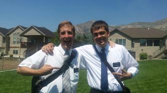 Elders Alex Brown and Brandon Short