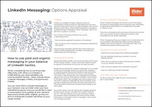 LinkedIn options appraisal for B2B digital marketing