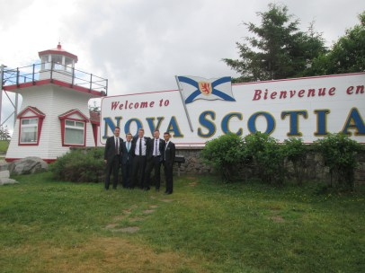 When we went to Nova Scotia, we had to take a stop at this sign!