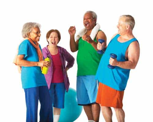 elderly upper body stretches