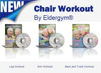 Chair Workout Program 3 DVD plus 2 Bonus DVDs